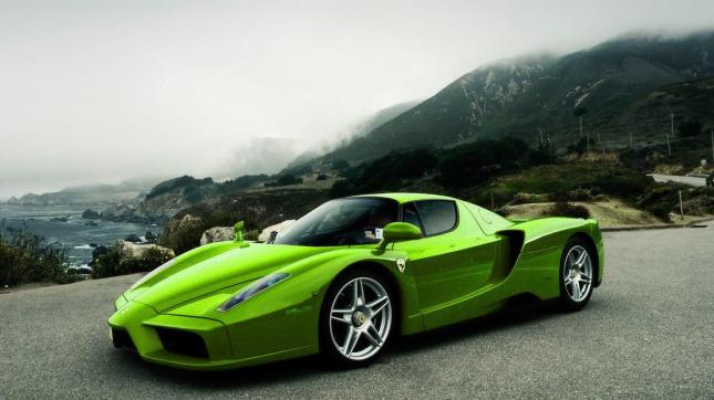 Green Ferrari ENZO... Can you believe it?!